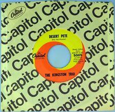 """7"""" THE KINGSTON TRIO Desert Pete/Ballad of Thresher Glen Campbell Capitol 1963"""