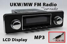 Retrosound laguna Trim din Oldtimer radio Aux-in mp3 kit completo l-502-b-076-006