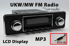 Retrosound Laguna TRIM DIN Oldtimer Radio AUX-IN MP3 Komplettset L502B076006