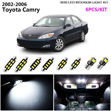 6Bulb LED Cool White 6000K Interior Light Kit Package Fit 2002-2006 Toyota Camry