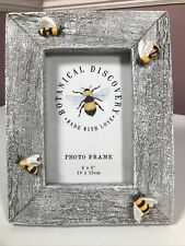 "Bee Ceramic Photo Frame 4 x 6"" Botanical Discovery VGC"