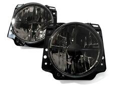 VW Golf MK2 2 Crystal Clear Black Euro ECode Sport Headlight Headlamp Cross Hair