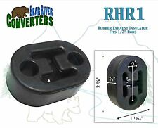 "RHR1 Exhaust Mount Rubber Insulator Grommet Hanger Bushing 1/2"" Hole Rod Support"