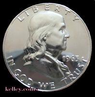 1963 50C Franklin Silver Half Dollar GEM PROOF