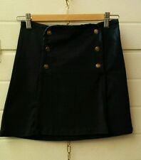 Gonna mini, blu con bottoni in metallo, stile marinaro, Pull&Bear taglia S