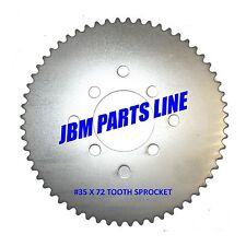 Go Kart #35 Sprocket 72 Tooth Universal Mini Bike Atv, Drift Trike