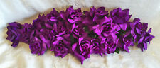 PURPLE SWAG ~ Soft Touch Silk Wedding Flowers Roses Arch Gazebo Centerpieces NEW