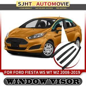 4x Weather Shield Weathershield Window Visors for Ford Fiesta Hatch 2008-2019