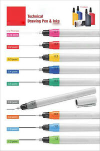 Liquidraw Technical Drawing Pens ALL SIZES Compatible with Rotring Isograph Inks