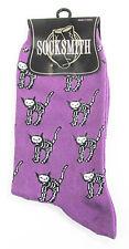 Cat Socks -Purple Colour Skeleton Cat  Socks *One Size Fits Most