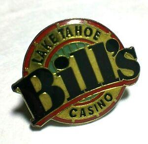 Vintage Bills Lake Tahoe Casino Pin Back Souvenir Bill Harrah Lapel Pinback