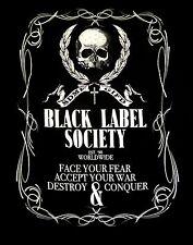 BLACK LABEL SOCIETY cd lgo LINEWORK CREST Official SHIRT 2X fire it up mafia OOP