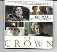 THE CROWN Season 4 DVD FYC 3-Disc set 10 ep BBC Olivia Colman Gillian Anderson