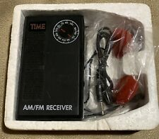 rare TIME MAGAZINE AM FM Promotional RADIO RECEIVER with HEADPHONES