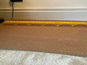 3 x OO Gauge Yellow Elevated Track Supports/Bridge. Possibly lima. Unbranded