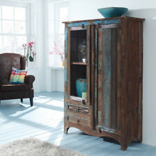 Schrank Himalaya Altholz 3720 Vitrine Kommode old recycled wood von Wolf Möbel