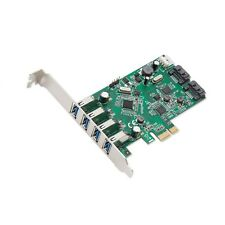 Syba 4 Port USB 3.0 and SATA III PCIe 2.0 x 1 Card with Chipsets and Low Prof...