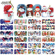 48 SHEETS CHRISTMAS STYLE NAIL ART WATER TRANSFER STICKERS XMAS NAIL WRAPS MIXED