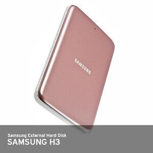 Samsung H3 Portable External Hard Disk Drive HDD USB 3.0 1Tb [ Pink Gold ]