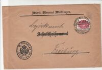 Germany Waiblingen 1927 to Freiburg Slogan Cancel Stamps Cover Ref 31787