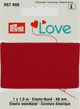 1 meter Gummi-Band Rot 38 mm fest , mit weicher Oberfläche von Prym 957 905
