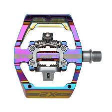 HT Pedals X2 Clipless Platform Pedals, CrMo - Oil Slick