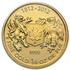 1/4 oz Canadian War of 1812 Gold Coin (BU)