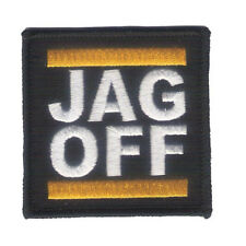 """Hook & Loop Back 2 1/2"""" X 2 1/2"""" JAG OFF Embroidered Patch - Harley - Pittsburgh"""