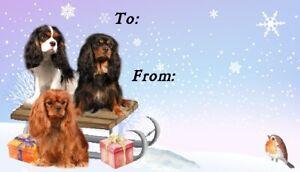 Cavalier King Charles Spaniel Dog Christmas Labels by Starprint - 42 peel off