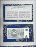 *Most Treasured Banknotes Czech Republic 20 Korun 1994 P 10a UNC Prefix A.06