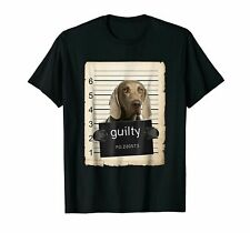 Weimaraner Dog mug shot bad dog Shirt Funny Vintage Gift For Men Women
