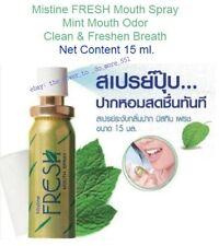 15ml. FRESH Mouth Spray Mint Mouth Odor Clean & Freshen Breath, Mistine Thailand