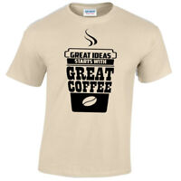 Great ideas start with great COFFEE Mens T Shirt S-5XL funny caffeine gift