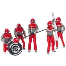 Carrera Mechanics Crew Set of 5 Figures, Red for 124 / 132 slot car track 21131