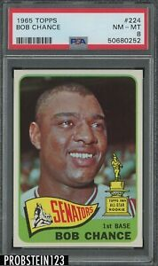 1965 Topps #224 Bob Chance Washington Senators PSA 8 NM-MT