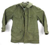 Vtg John Ownbey US Military Mens Small Jacket Wind Resistant Army Green OG107