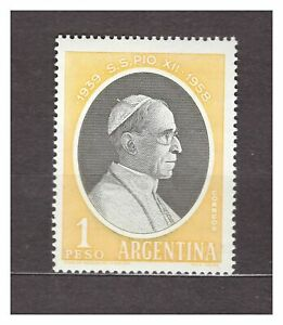 Argentina 1959 MNH New Pope Pio XII 1v 29620