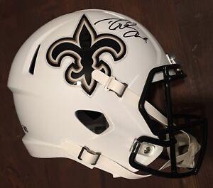 Drew Brees New Orleans Saints Signed White Alternate Revolution Replica Helmet