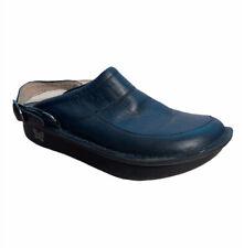 Alegria SEV-601 Seville Black Leather Slingback Mule Slide Shoes Womens Sz EU 39