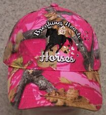 Embroidered Baseball Cap Cowgirl Breaking Hearts & Horses NEW 1 hat size fit all