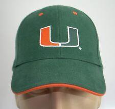 New University of Miami UM Hat Hurricanes Baseball Cap Lid Green Orange College