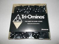 TriOminos three sided challenging tile game vintage Pressman 4420 2-6 players