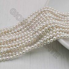 Perle Di Madreperla rotondo col bianco 3 mm 120 pz per tuoi gioielli