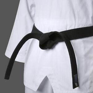 Taekwondo Fighter Black Belt Single Wrap Mooto MMA TKD Dan Rank Martial Arts