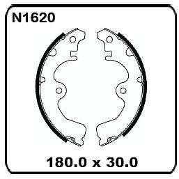 For Toyota Tercel AL20 AL21 1982-1988 REAR Drum Brake Shoe Set N1620