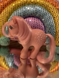 G1 Vintage My Little Pony Collectors Pose Cotton Candy Concave Foot (CF)