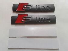 Lot 2 Logo S LINE Noir Emblème SLINE En Métal Pour Voiture AUDI
