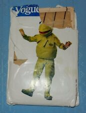 8476 Kermit the Frog Costume Muppets Kid size S 2/4 M 6/8 L 10/12 Sewing Pattern