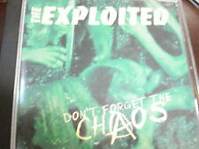 CD THE EXPLOITED DON'T FORGET THE CHAOS  MINT!! RARE!! 1996 CLEOPATRA