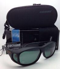 Polarized COCOONS Sunglasses C402G Medium Fits Over Rx Eyeglasses Black w/ Grey